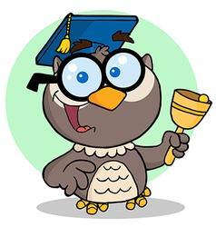 Owl Teacher Cartoon Character vector image vector image