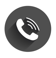 Phone icon contact support service sign vector