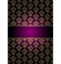Purple and gold background vector
