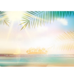Sea beach for summer design template vector image