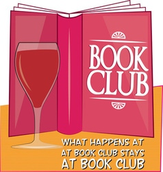 Stays at book club vector