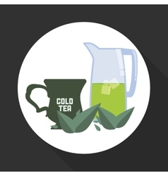 tea time icon drink concept Flat illiustration vector image
