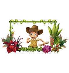 The jungle boy vector image vector image