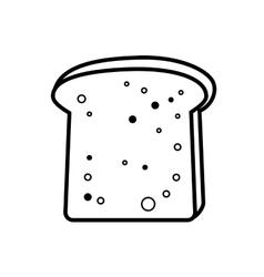 toast bread icon vector image vector image