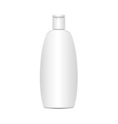 white plastic bottle for shampoo lotion vector image