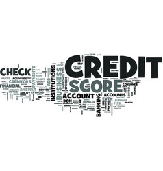 z check credit score text word cloud concept vector image vector image