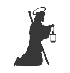 Saint joseph silhouette icon vector