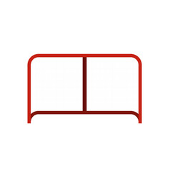 hockey gate icon flat style vector image
