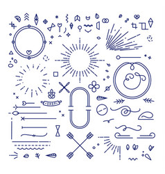 flat design elements vector image