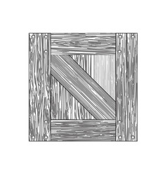 box wooden wood planks vector image