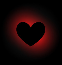 Heart shape in dark background vector