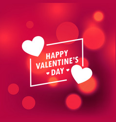 Beautiful happy valentines day background with vector