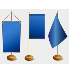 Table flags vector image