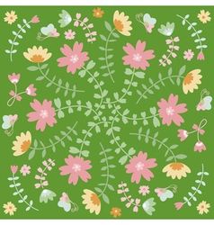 Spring flower card vector