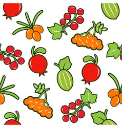 Berry seamless background vector