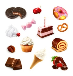 Confectionery set 2 vector