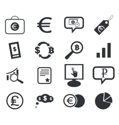 Finance icon set 6 simple vector