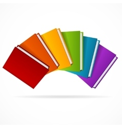 Book Stack Rainbow vector image