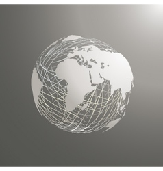 abstract world map sphere Africa vector image