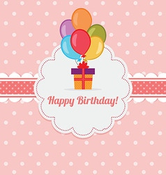 Birthday card template vector