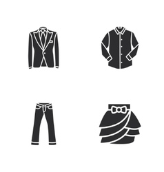 Four modern clothes icons vector