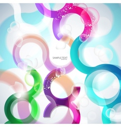 Curves lines and bubbles vector