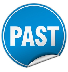 Past round blue sticker isolated on white vector