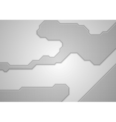 Abstract grey technology background vector