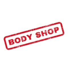 Body shop text rubber stamp vector