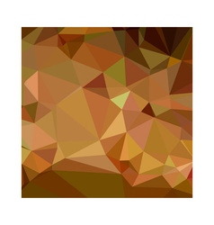 Cocoa brown abstract low polygon background vector