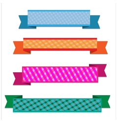 Colorful ribbon vector image