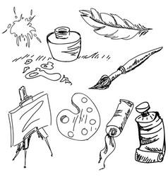 Drawn art stuff vector
