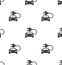 Electro car seamless pattern vector