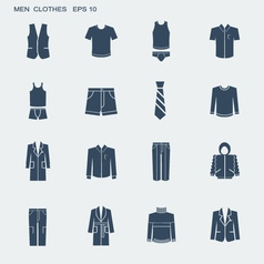 Fashion clothes for men isolated on white vector image