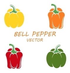 flat bell peppers icons set vector image