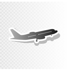 Flying plane sign side view new year vector