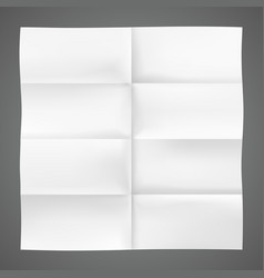Folded piece of paper vector