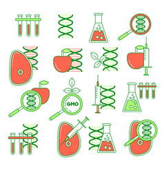 Gmo set of icons vector