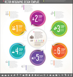 Infographic design template colorful design 2 vector
