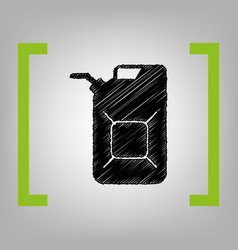 jerrycan oil sign jerry can oil sign vector image