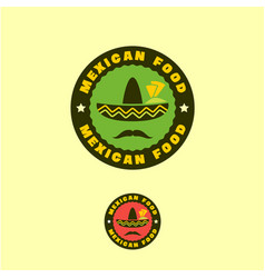 mexican traditional food logo or emblem vector image