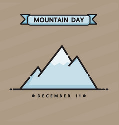 mountain day vector image vector image