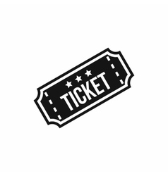 Movie ticket icon simple style vector