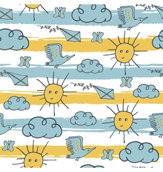 Pattern sky stripes vector