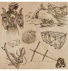 Pirates - an hand drawn pack no12 vector