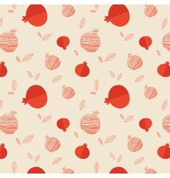 Pomegranate seamless pattern for rosh hashana vector