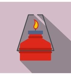 Portable gas burner flat icon vector image
