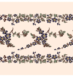 seamless border floral pattern vector image vector image