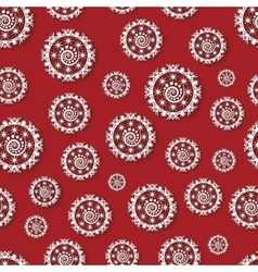 Seamless pattern with paper snowflakes vector image vector image