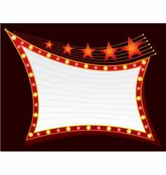 stars on neon light vector image vector image